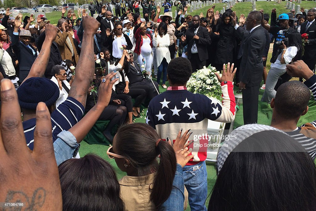 Funeral Held For Baltimore Man Who Died While In Police Custody : News Photo