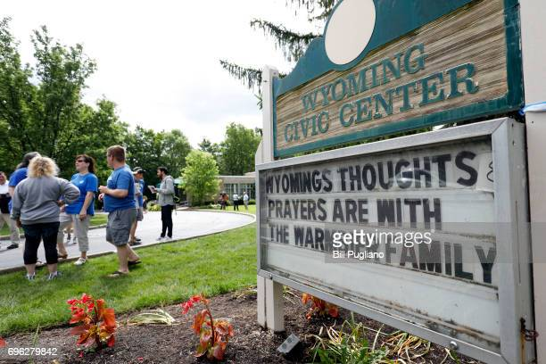 Friends and supporters of Otto Warmbier the 22yearold college student who was released from a North Korean prison on Tuesday gather together to show...