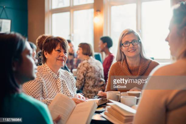 friends at a book club - small group of people stock pictures, royalty-free photos & images