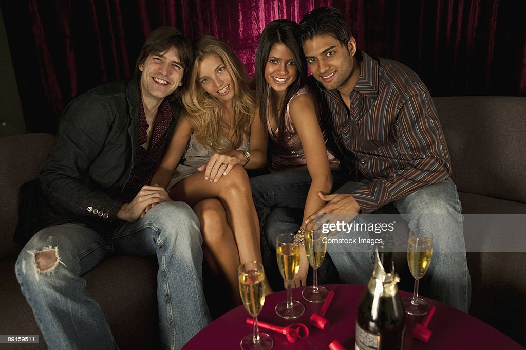 friends at club : Stock Photo