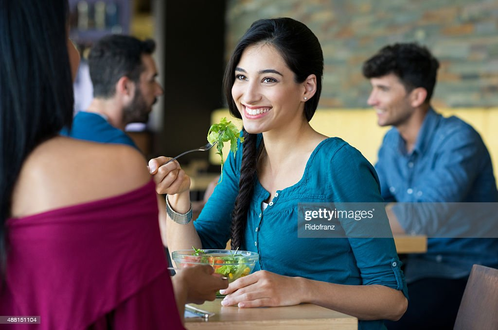 Friends at lunch : Stock Photo