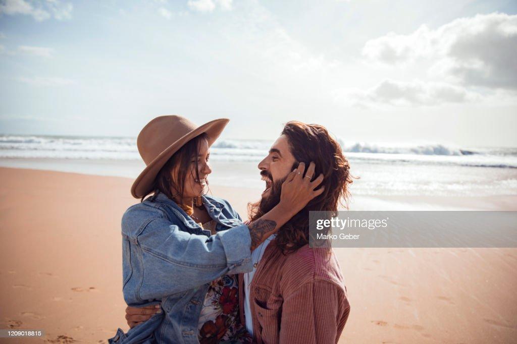 Friends at the beach : Photo