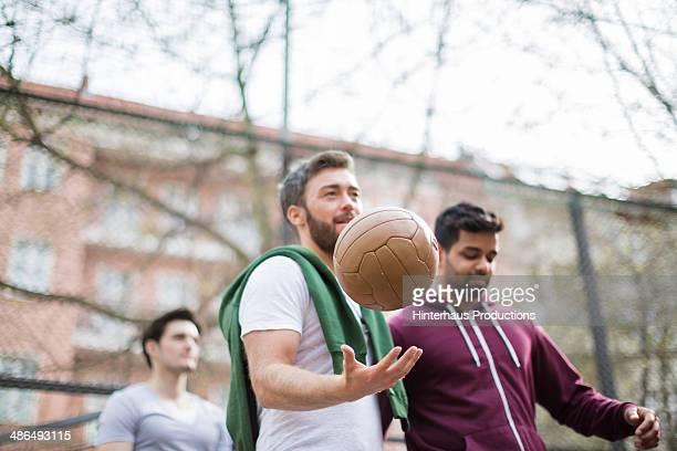 Friends At Urban Soccer Ground