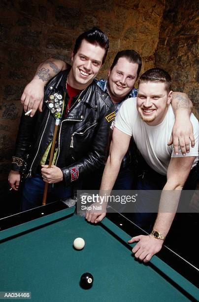 Friends By a Pool Table