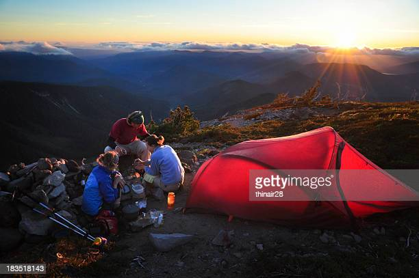friends camping - mt hood stock pictures, royalty-free photos & images