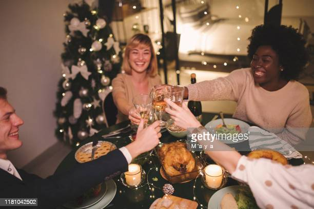 friends celebrating - party host stock pictures, royalty-free photos & images