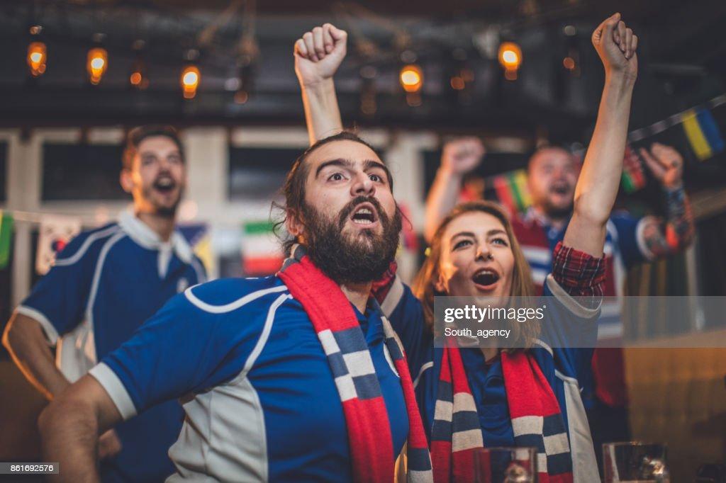 Friends cheering : Stock Photo