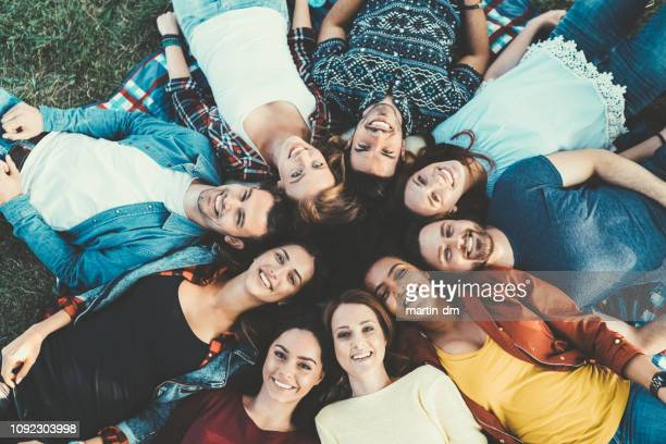 friends circle - close to stock pictures, royalty-free photos & images