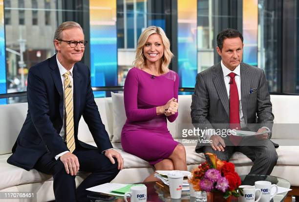 FOX Friends cohosts Steve Doocy Ainsley Earhardt and Brian Kilmeade host FOX Friends at Fox News Channel Studios on September 24 2019 in New York City