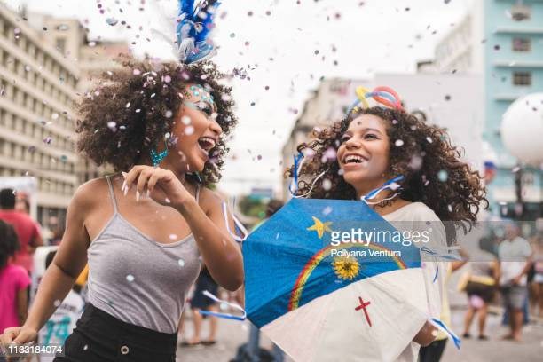 friends dancing carnival - recife stock pictures, royalty-free photos & images