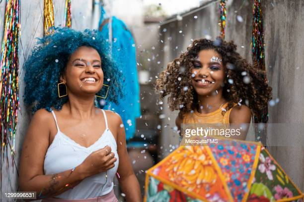 friends dancing frevo at home - brazilian carnival stock pictures, royalty-free photos & images