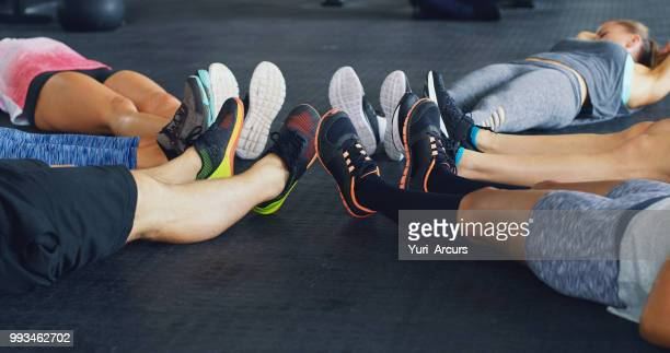 friends don't let friends skip leg day - sports footwear stock pictures, royalty-free photos & images