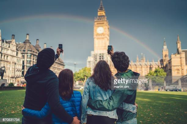 Friends double dating in London