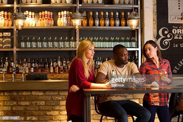 Friends drinking in a Bar