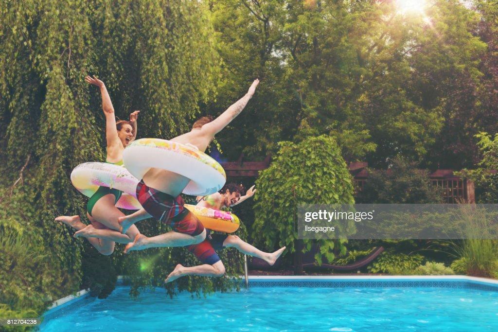 Freunde an einem Sommertag : Stock-Foto