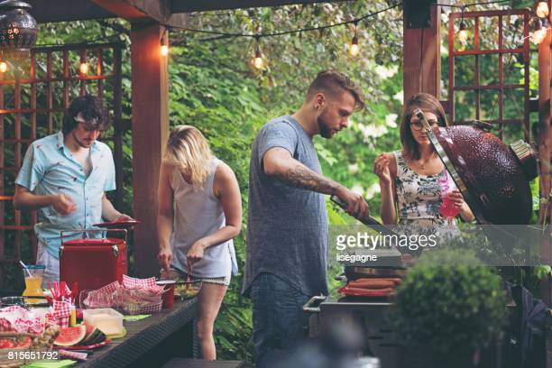 friends during a summer day - outdoor party stock pictures, royalty-free photos & images