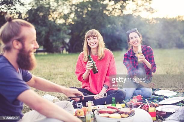 Friends enjoying a day at park