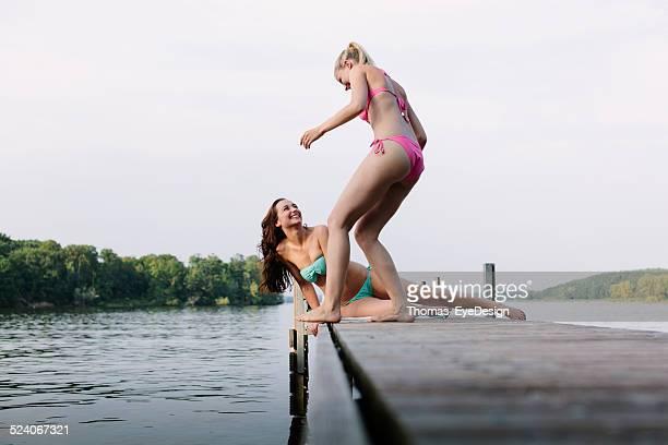 Friends enjoying a day at the Lake