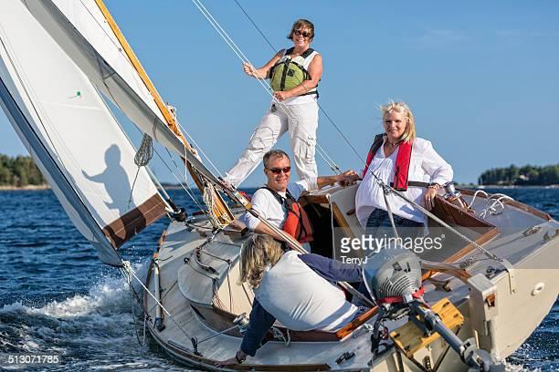 Friends Enjoying a Day of Sailing