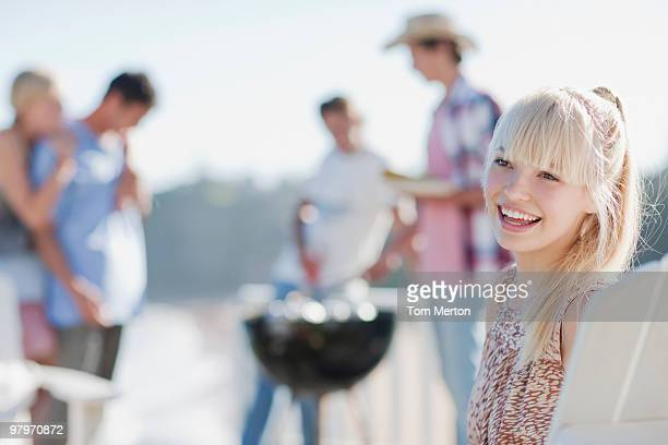 Friends enjoying barbecue