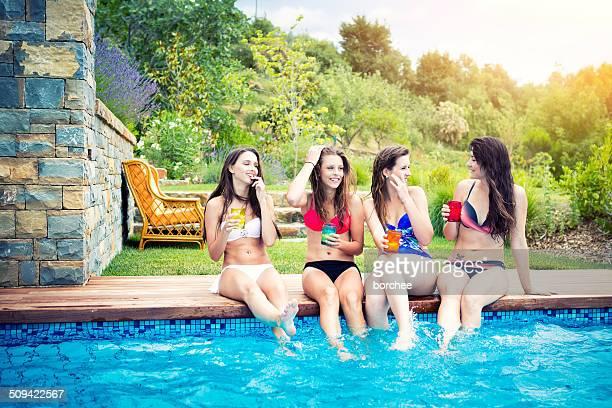 Friends Enjoying On Vacations