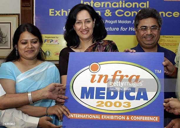 Friends Events VicePresident Neha Gupta Heath Consultant Dr Usha Thakur Kothari and President of SurgiMedica Rakesh Sawhney launch Infra Medica...