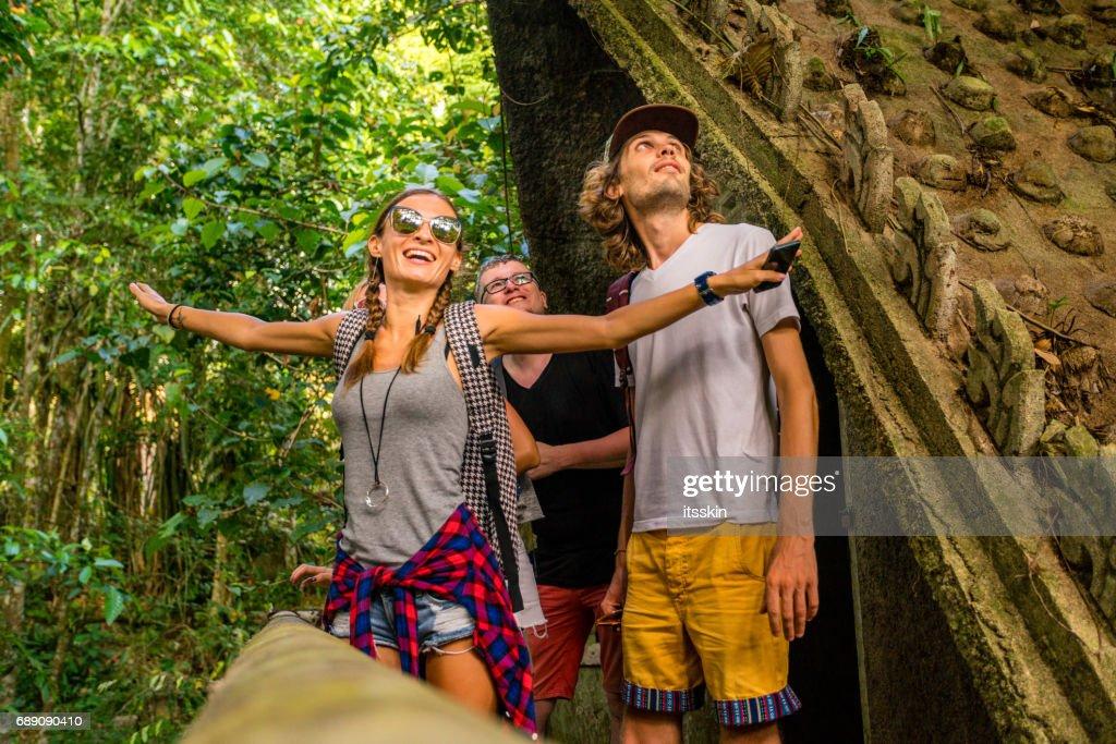 Friends exploring Thailand : Stock Photo