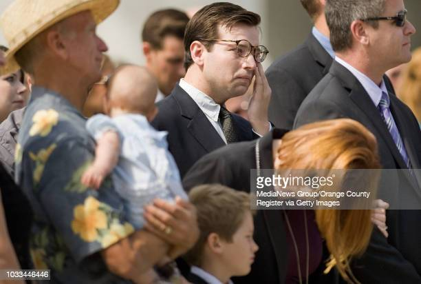 Friends, family and the public gather to remember the Rev. Robert H. Schuller, the founder of Crystal Cathedral, Monday in Garden Grove....