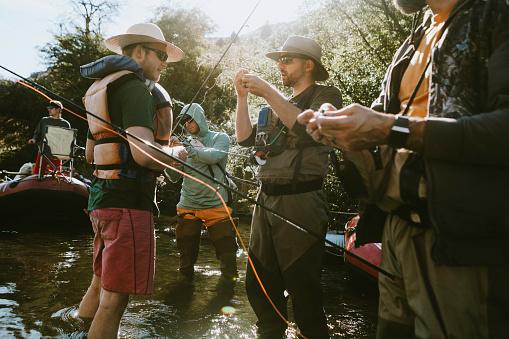 Friends Fishing On Deschutes River Rafting Trip 1043818956