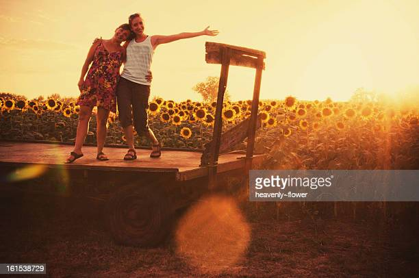 friends, flare, sunflowers - kansas imagens e fotografias de stock