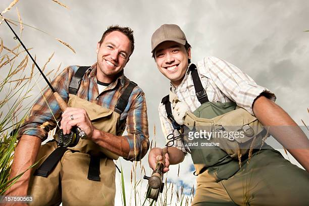 Friends Fly Fishing Together