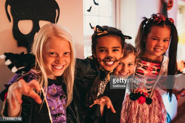 friends forever - naughty halloween stock photos and pictures