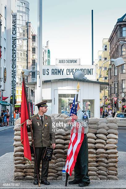 friends forever - checkpoint charlie stock photos and pictures
