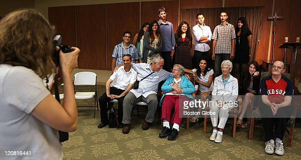 Friends Forever program director Kathleen Cobb takes a photograph of the teens two teachers and residents The residents seated third from left to...
