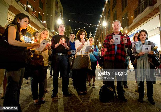 Friends gather for a candlelight vigil held in Bethesda MD near Lululemon where their friend Jayna Murray was killed March 11 2011 Photo Ken Cedeno