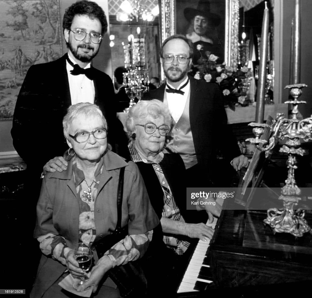MAY 23 1988; Friends gathered at the home of John Buchanan to celebrate the 100th anniversary of the : News Photo