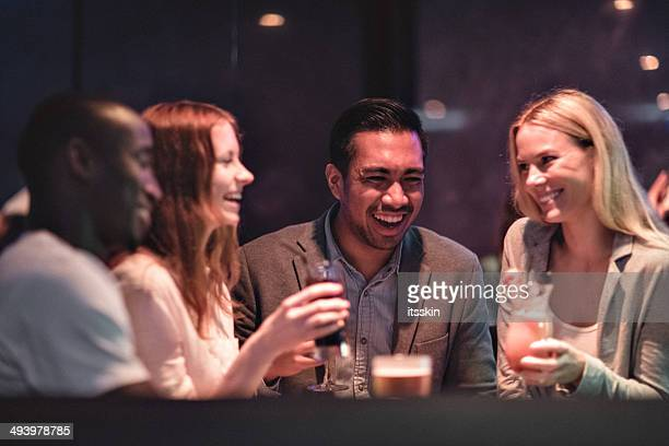 friends gathering in the club - asian drink stock photos and pictures