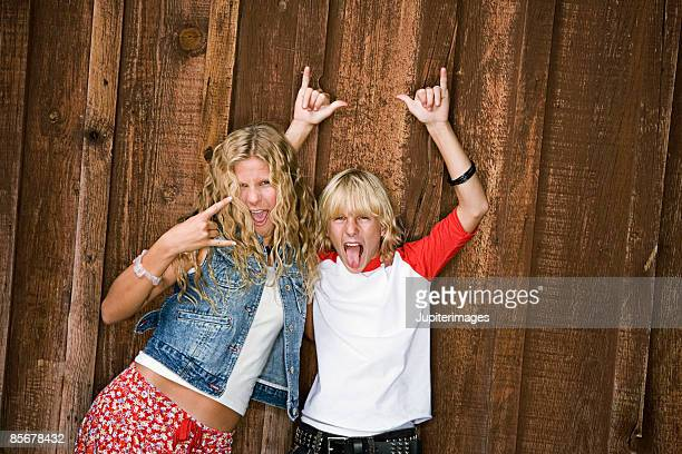 friends gesturing and posing - heavy metal stock pictures, royalty-free photos & images