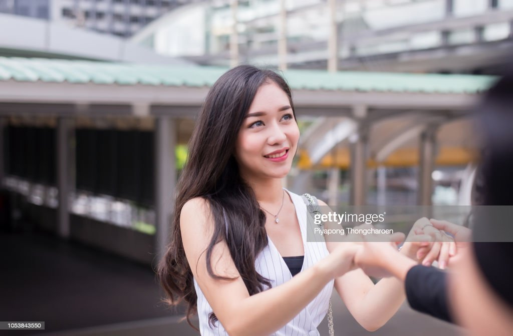 Friends giving hand to depressed woman,encourage,Mental health care concept : Stock Photo