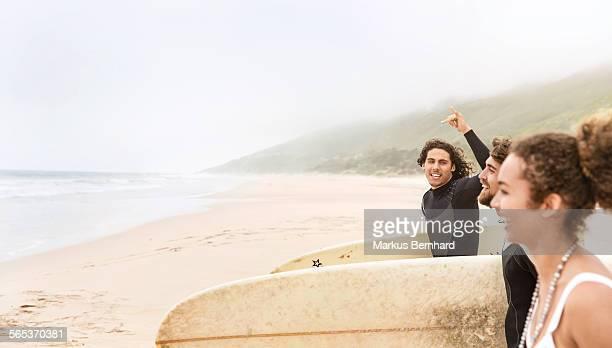 Friends go surfing