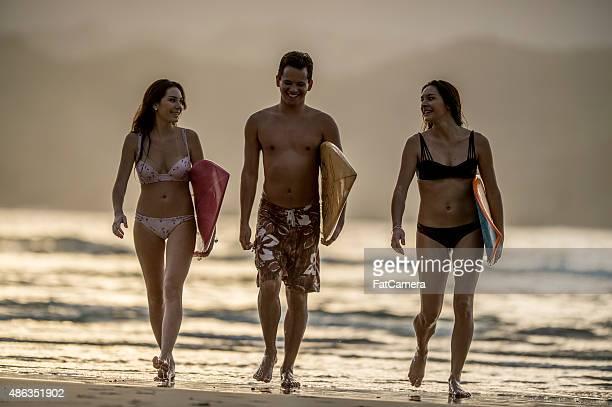 Friends Going Surfing