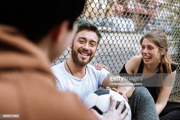 Friends Hanging Around At Urban Sport Ground
