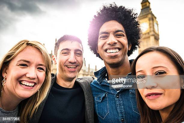 Freunden Spaß haben in London