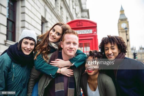 Vrienden met een blast in Londen