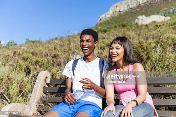Freunde ein gutes Lachen.