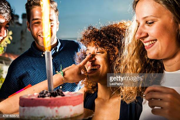 Funny birthday images free stock photos and pictures getty images friends having a lot of fun at birthday party voltagebd Gallery