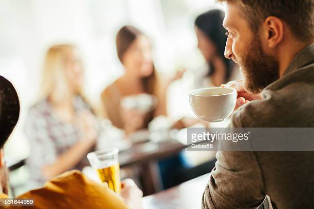 Friends having coffee
