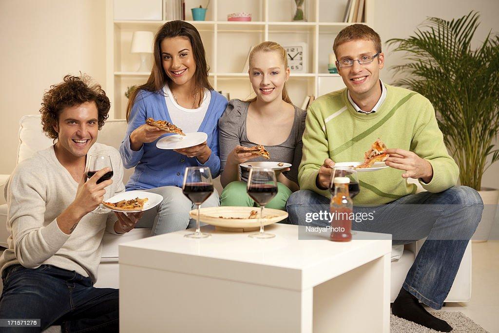Friends Having Dinner : Stock Photo