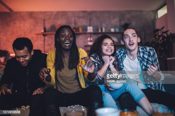 friends having fun at home - cold drink stock pictures, royalty-free photos & images