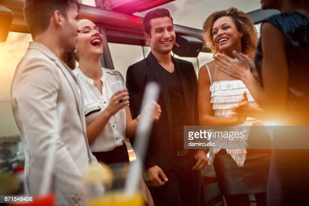 friends having fun in nightclub - cocktail party stock pictures, royalty-free photos & images